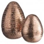 Dekorativní otevírací vajíčko Alu copper