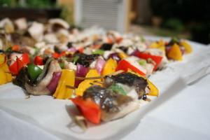 kapr doplněný grilovanou zeleninou