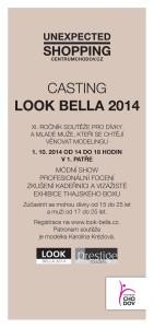 Casting LOOK BELLA 2014 v Centru Chodov