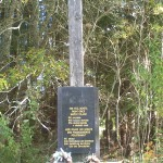 kříž - původní kostel hřbitov Bučina