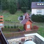 pohled z balkónu - hotel Alpská vyhlídka
