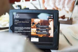 První elektronická vinná karta v iPad v Kempinski Hotelu River Park