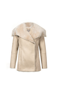 Jacket fur beige