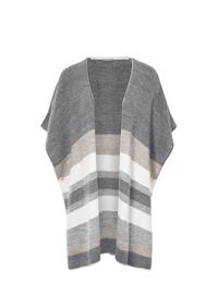 Poncho grey beige