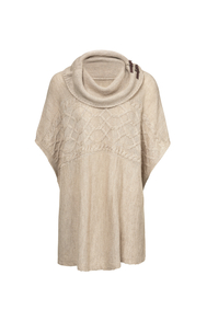Pullover tunic beige