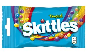 Skittles Tropical_38g balení_9,90 Kč