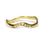 27jewelry_Drip - simple diamond band YG