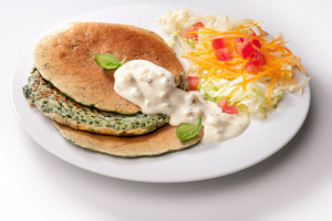 Špenátové lívance -Pancake di spinaci al gorgonzola
