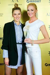 Andrea Bezděková s organizátorkou Miss Léta