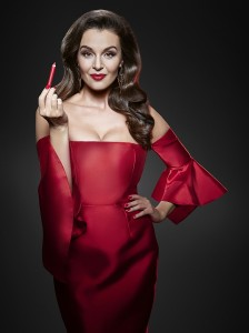 Iva Kubelková jako filmová diva s novou rtěnkou Iconic Lipstick značky Dermacol_ foto Dermacol