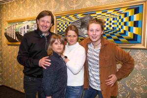 Pavel Kožíšek s manželkou Lucií a syny Jakubem a Matyášem