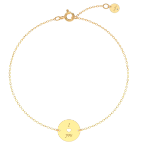 náramek ALOve, žluté zlato, diamant, cena 5 790,-Kč