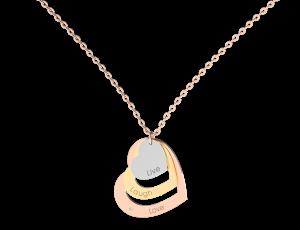 přívěsek ALOve z růžového, bílého a žlutého zlata, diamant, cena 7 647,-Kč