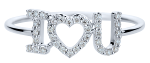 prsten ALOve, bílé zlato, diamanty, cena 20 554,-Kč