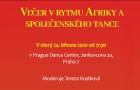 Pozvánka na křest knihy SVÍTÁNÍ NAD SAVANOU v rámci večera v rytmu Afriky