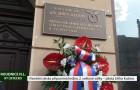 Starosta Roudnice nad Labem František Padělek odhalil pamětní desku hrdiny 2. svět. války – pilota Jiřího Kučery