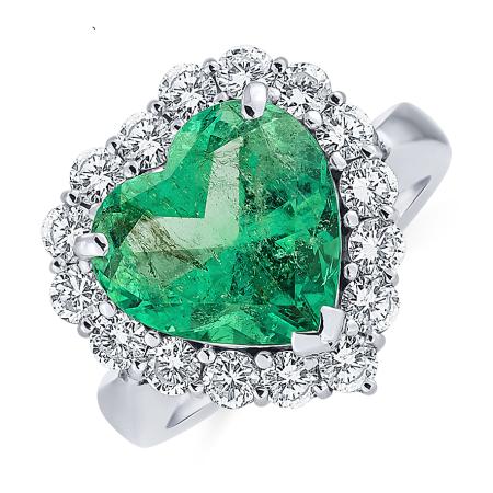 prsten_ALOdiamonds_bile__zlato_smaragd_16diamantu_cena_465 850Kč