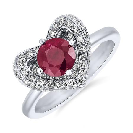 prsten_ALOdiamonds_bile_zlato_rubín_122diamantu_cena_114 451Kč