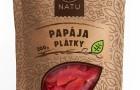 Přírodní sušená papája a slunce v jarních ošatkách