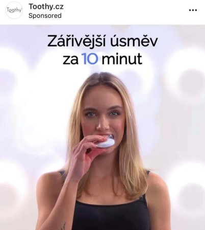 Iveta Maurerová Toothie reklamní kampaň