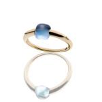 prsten Pomellato_M'ama non m'ama_ruzove_zlato_modry_topaz_cena_www.halada.cz_ - blue topaz and rose gold cena 35.100,-
