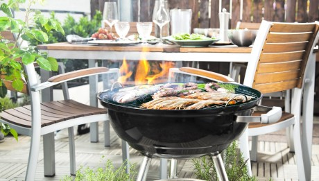 Close-up,Of,Barbecue,Place,In,The,Garden,Or,Balcony